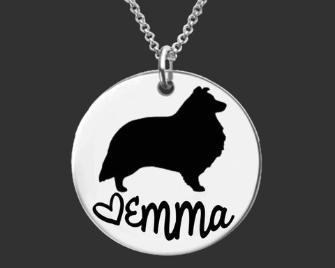 Shetland Sheepdog Personalized Necklace