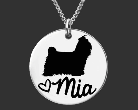 Shih Tzu Personalized Necklace