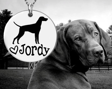 Vizsla Personalized Necklace