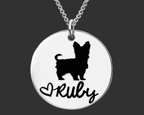 Yorkshire Terrier Personalized Necklace | Yorkie Jewelry