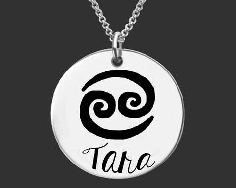 Cancer Zodiac Personalized Necklace