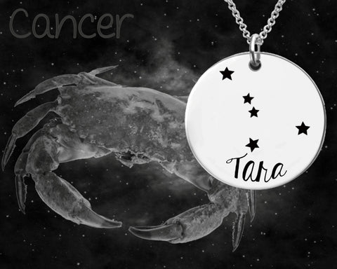 Cancer Constellation Personalized Jewelry