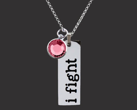 I Fight Breast Cancer Survivor Necklace