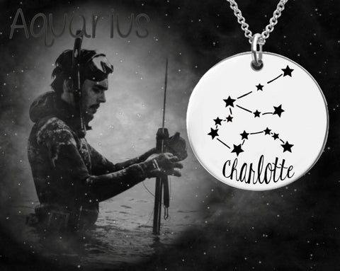 Aquarius Constellation Necklace | Zodiac Necklace