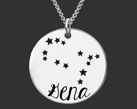 Gemini Constellation Zodiac Necklace