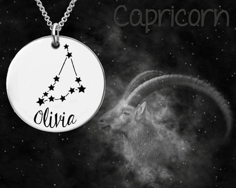 Capricorn Zodiac Constellation Personalized Jewelry