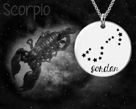 Scorpio Constellation | Zodiac Necklace