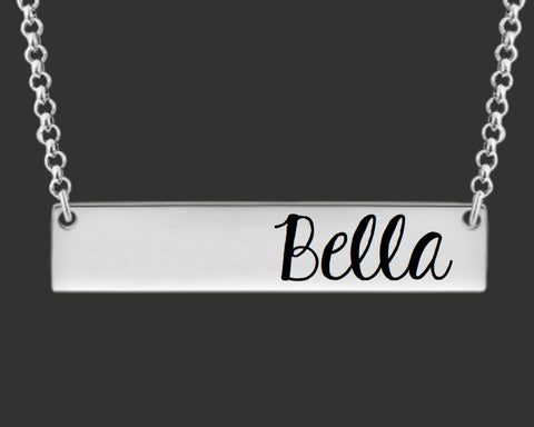 Design Your Own Custom Personalized Bar Necklace