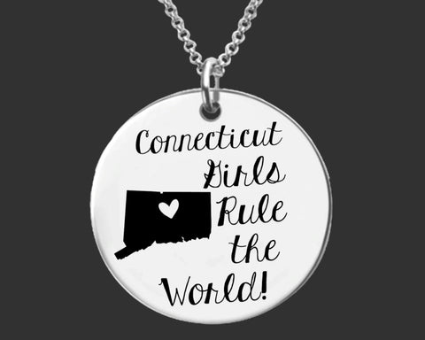 Connecticut Girls Necklace | Connecticut State
