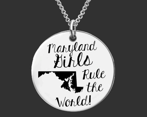 Maryland Girls Necklace | Maryland State