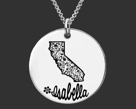 California Personalized Necklace | California State