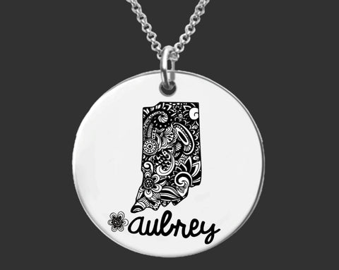 Indiana Personalized Jewelry | Indiana State