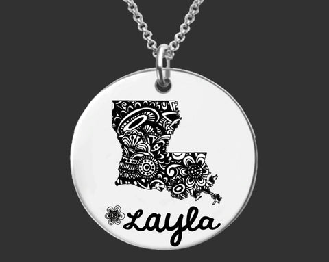 Louisiana Personalized Jewelry | Louisiana State