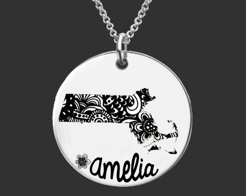 Massachusetts Personalized Jewelry | Massachusetts State