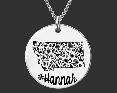 Montana Personalized Necklace | Montana State