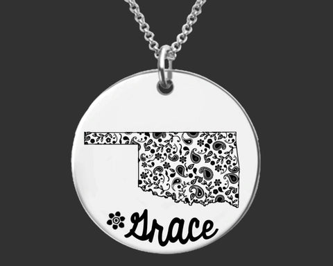 Oklahoma Personalized Necklace | Oklahoma State