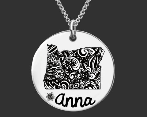 Oregon Personalized Necklace | Oregon State