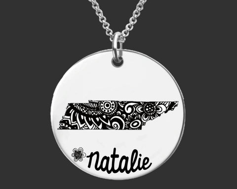 Tennessee Personalized Necklace | Tennessee State