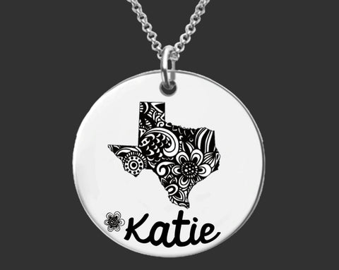 Texas Personalized Necklace | Texas State