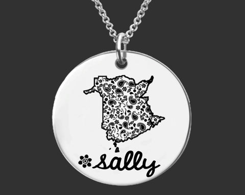 New Brunswick Personalized Necklace | New Brunswick Canada