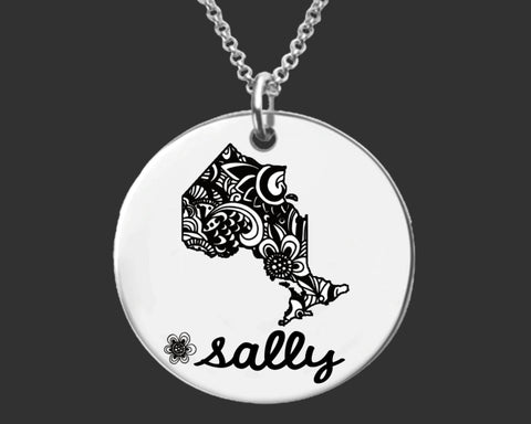 Ontario Personalized Necklace | Ontario Canada