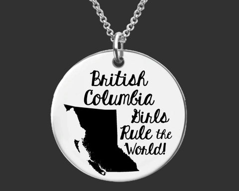 British Columbia Girls Necklace | BC Canada