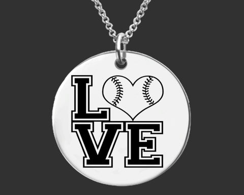 Softball Love Necklace