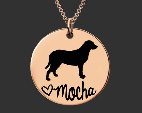 Rose Gold Custom Personalized Dog Breed Necklace