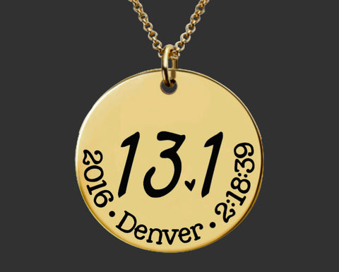 13.1 Necklace Gold | Half Marathon Necklace