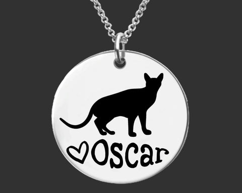 Abyssinian Cat Necklace | Cat Jewelry