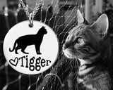 Bengal Cat Personalized Necklace