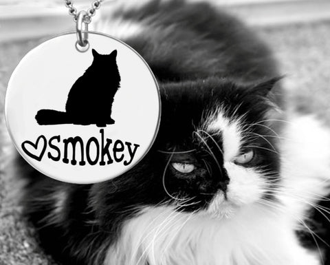 Himalayan Cat Personalized Necklace
