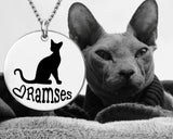 Sphynx Cat Personalized Necklace
