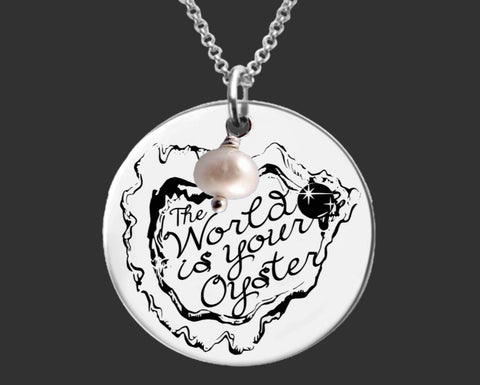 The World Is Your Oyster Necklace | Graduation Gift