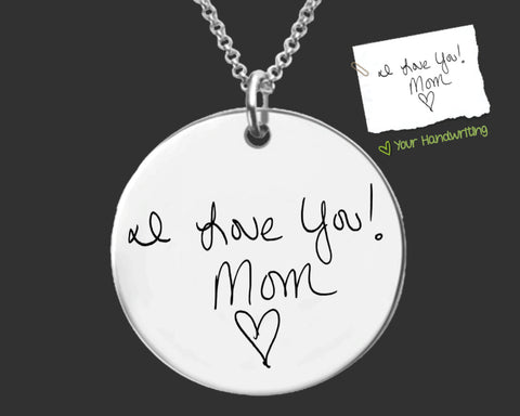 Custom Handwriting Necklace | Handwriting Jewelry