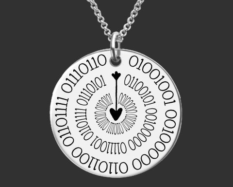I Love You More Binary Code Necklace | Geek Gift