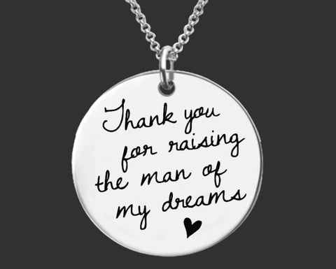 Thank You Raising For the Man of My Dreams Necklace