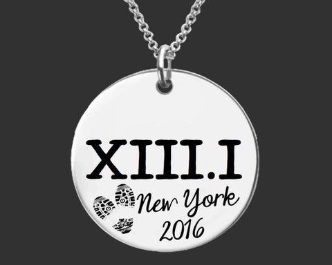 XIII.I Personalized Marathon Necklace | Marathon Jewelry