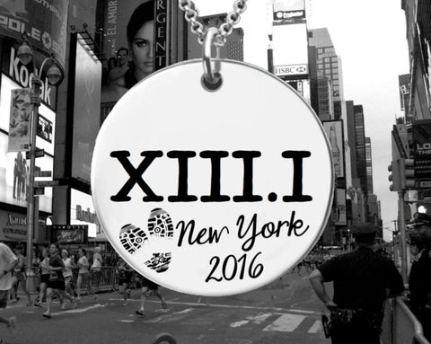 XIII.I Personalized Marathon Necklace