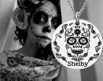 Sugar Skull Personalized Necklace