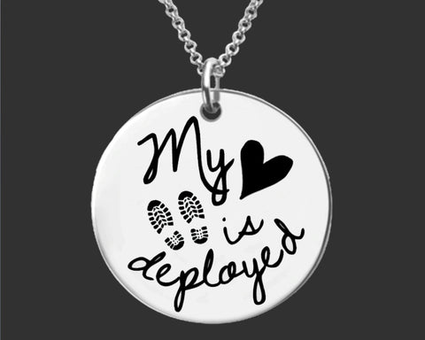 My Heart is Deployed Necklace