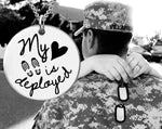 My Heart is Deployed Necklace | Deployment Gift