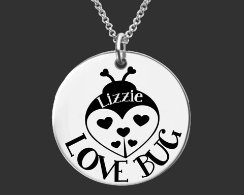Love Bug Personalized Necklace | Granddaughter Gift