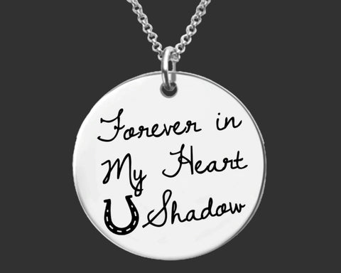 Forever in My Heart Horse Memory Necklace | Horse Sympathy