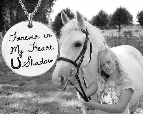 Forever in My Heart Horse Memory Necklace