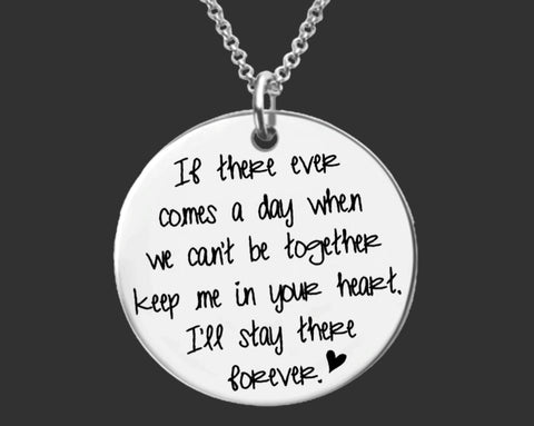 I'll Stay There Forever Necklace | Missing You