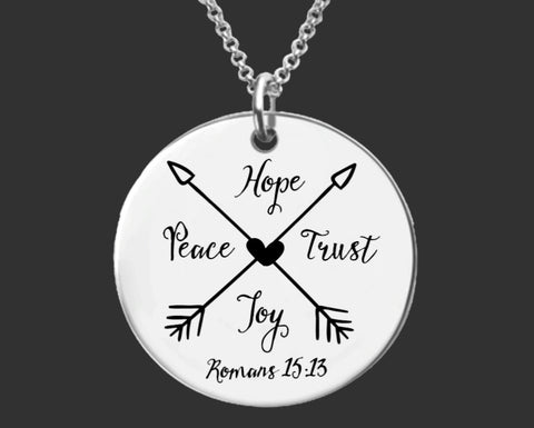 Romans 15:13 Necklace | Christian Gift