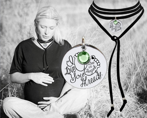 Maternity Necklace | Baby Shower Gift | Leather Choker