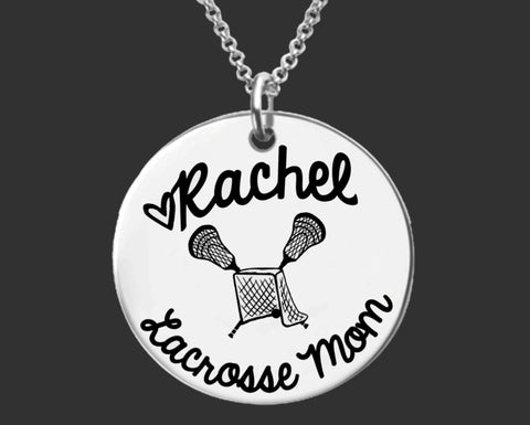 Lacrosse Mom Personalized Necklace