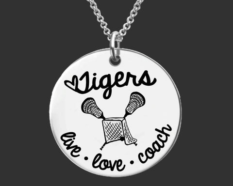 Lacrosse Coach Personalized Necklace
